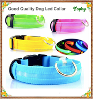 Beautiful Pet Dog Collars and Leads LED Light Pet Collars Large Dogs Luminous Fluorescent Collars Harness