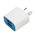 Promotional 2.4A dual usb wall charger, Q2 quick universal travel charger portable adapter