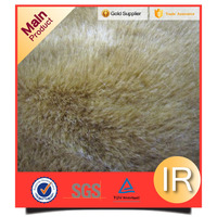 100% polyester fake wolf fur fabric