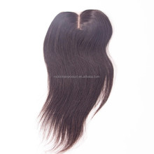 Natural Straight Middle Parting Brazilian Hair Closure 4*4 With Baby Hair