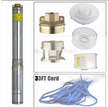 Submersible Pump 4'' Deep Well 2HP With Control Box and 33FT Cable open well submersible pump