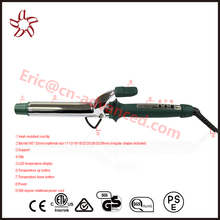 Double MCH heater professional 32mm titanium curling iron instant heat up LCD display dual voltage 110-240V
