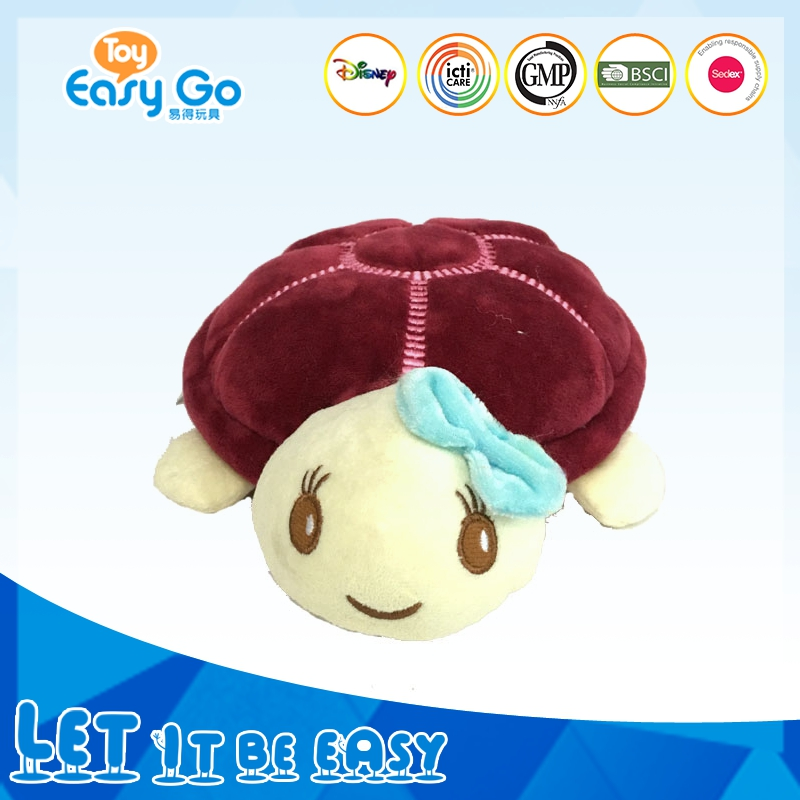 Carton soft custom plush sea turtle toys with big shell