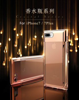 Plus,ROCK Crystal Series PC+TPU Back Case Cover For iPhone 7/7 Plus PR-142