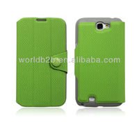 Fashion 3 Fold Leather Case Cover for Samsung Galaxy Note 2/N7100, 3 fold Stand design
