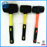 High Quality Hand Tools Rubber Hammer With Different Handle