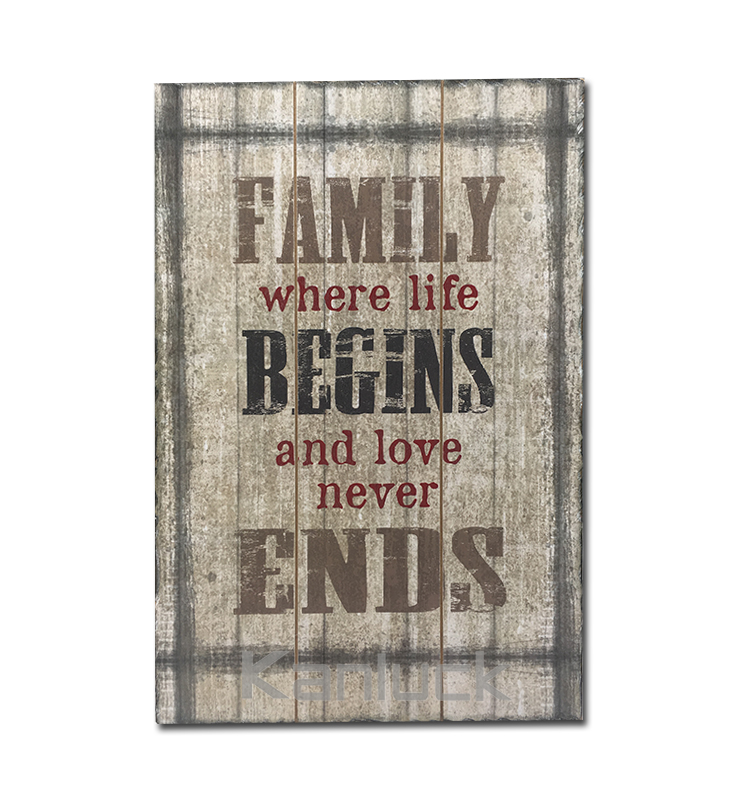 Family Design Wooden Wall Plaque
