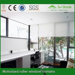 Dooya Tubular motor motorized roll window curtains for living room