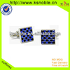 Fashion latest design lovely blue Crystal Cufflinks
