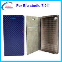 Carbon fiber wallet case cover for Blu studio 7.0 II ,for Blu studio 7.0 II phone cell case