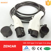 Accept product customized electric vehicle charging dostar j1772 to dostar charge cable 16a type2