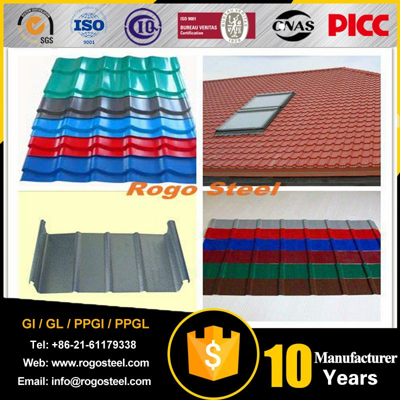 Low price of prepainted corrugated gi color roofing sheets with