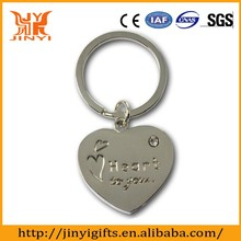 Promotional heart shape stainless steel keyring engraving logo