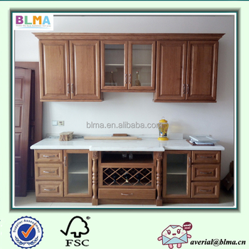 wood kitchen cabinets with crown molding