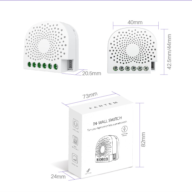 Modern smart home product Z-wave 2 way smart switch