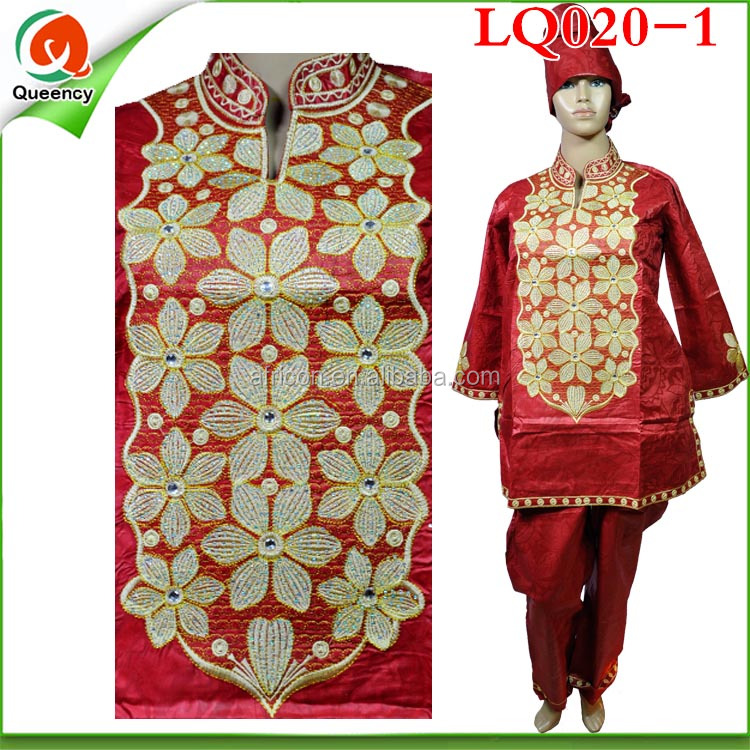 scarf shirt and top african bazin riche embroidery dress for women LQ020-1