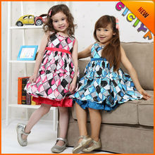 Wholesale summer baby girls fancy party dresses sleeveless kids cotton frocks design cotton frock 1