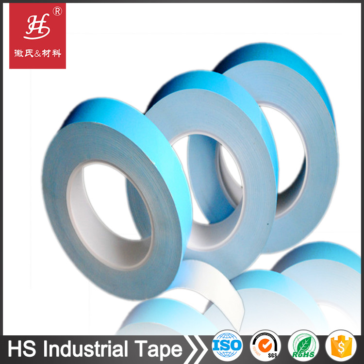 SGS ROHS TS16949 certificates Double side thermal conductive blue film thermal adhesive tape