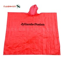 PE material and customized color logo disposable rain poncho