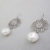 Filigree dangle faux pearl drop earrings bridal style for women