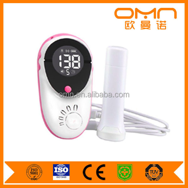 New rechargeable electronic portable wireless ultrasound fetal doppler connected with iphone and ISO smart phone