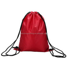 Factory direct wholesale low price promo custom printed shoe drawstring bags polyester string bag