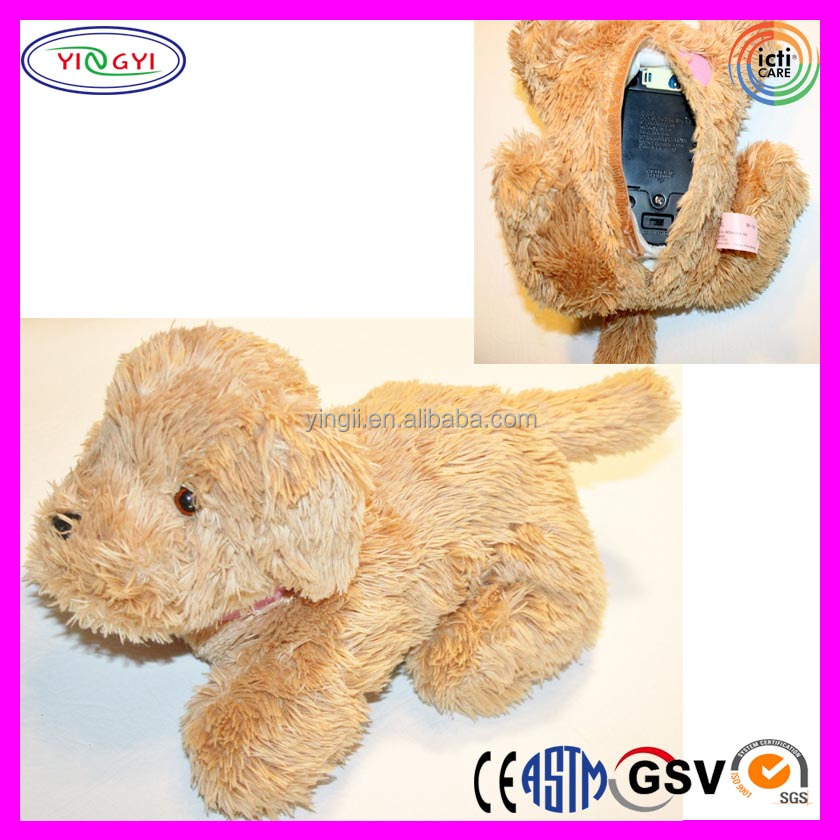 A614 Soft Golden Retriever Dog Plush Animal Battery Operated Stuffed Dog Toy