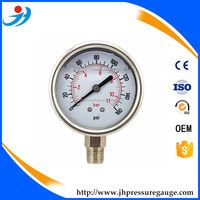 Y60-BG468 0-11bar/0-160psi High Quality glycerin filled pressure gauge