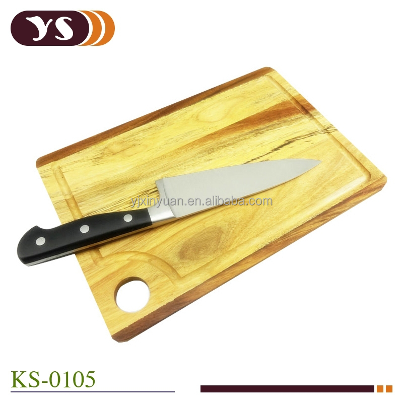 6 inch pom handle chef 39 s knife with acacia cutting board buy chef knife acacia cutting board 6. Black Bedroom Furniture Sets. Home Design Ideas