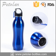 Fancy New Portable Aluminum Sports Water Bottle BPA Free with Carabiner