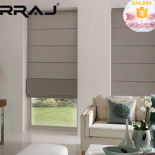 RRAJ Custom Roman Blinds with Sun Screen for UV Protection