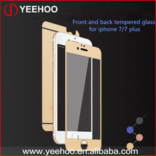 Color Tempered Glass Screen Protector,Full Body Front And Back Tempered Glass Screen Protector For Iphone 5 6 7 plus