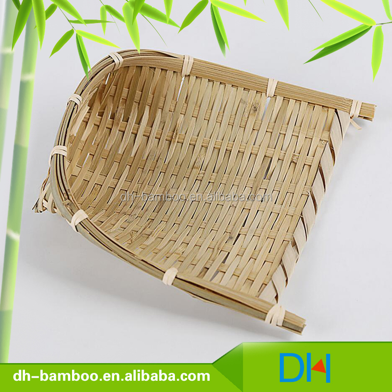 Bamboo storage wicker basket