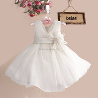 wholesale direct from factory baby girl tutu dresses kids clothing princess dress childrens cloth with bow flower 100-140cm