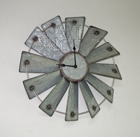 windmill metal wall clock,clock wall home decor