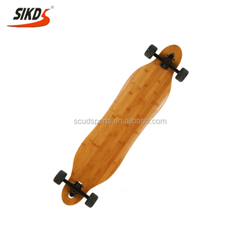 Factory bamboo longboard OEM logo new design bamboo long board