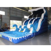 Inflatable comercial water slide swimming pool water slides for kids