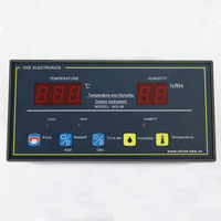Universal Dual Display Temperature and Humidity Controller with Alarm