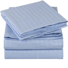 Wholesale Cheap High Quality Stripe Flat Sheets