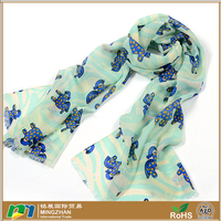 100% merino wool neck striped scarves for women,warm long cartoon horse infinity print wrap scarf