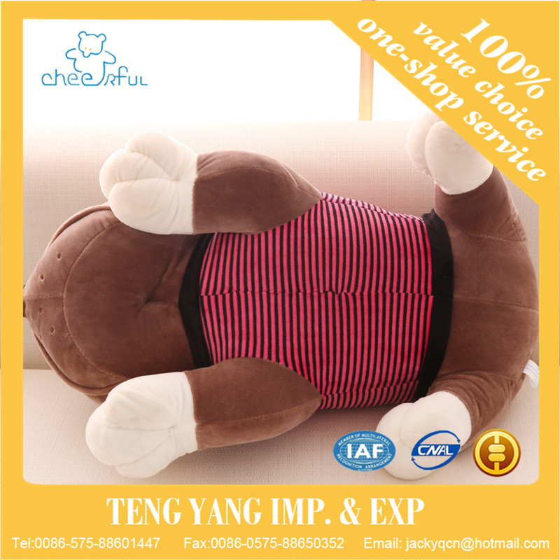 Cute Shar Pei Dog Plush Toy Staffed Soft Animal Doll Plush Pillow Kids Doll Kawaii Toy Gift
