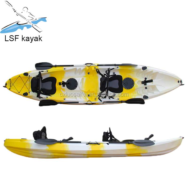 3 seats light weight family leisure kayak/canoe from factory