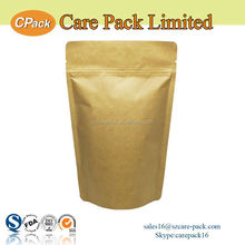 Heat seal clear recycled used cereal kraft paper bags lined aluminum foil