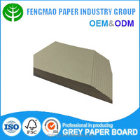 strong stiffness grey cardboard sheets paper box