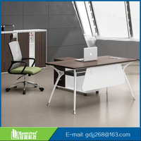 Height Adjustable Modern Office Metal Frame Computer Table