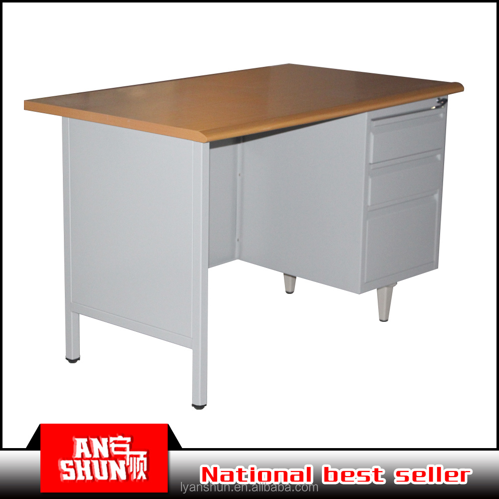 MDF color steel office furniture desk cheap reception counters table