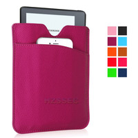 Envelope Pocket Sleeve Cover Flip Leather Case For Amazon Kindle Oasis Ebook Reader Tablet Case 6 Inch (Purple)