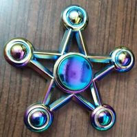 Latest modeling Tri Fidget Hand Spinner Triangle Torqbar Aluminum alloy Puzzle Finger Toy EDC Focus