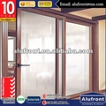 high quality timber clading aluminum glass door,aluminum clad wood doors