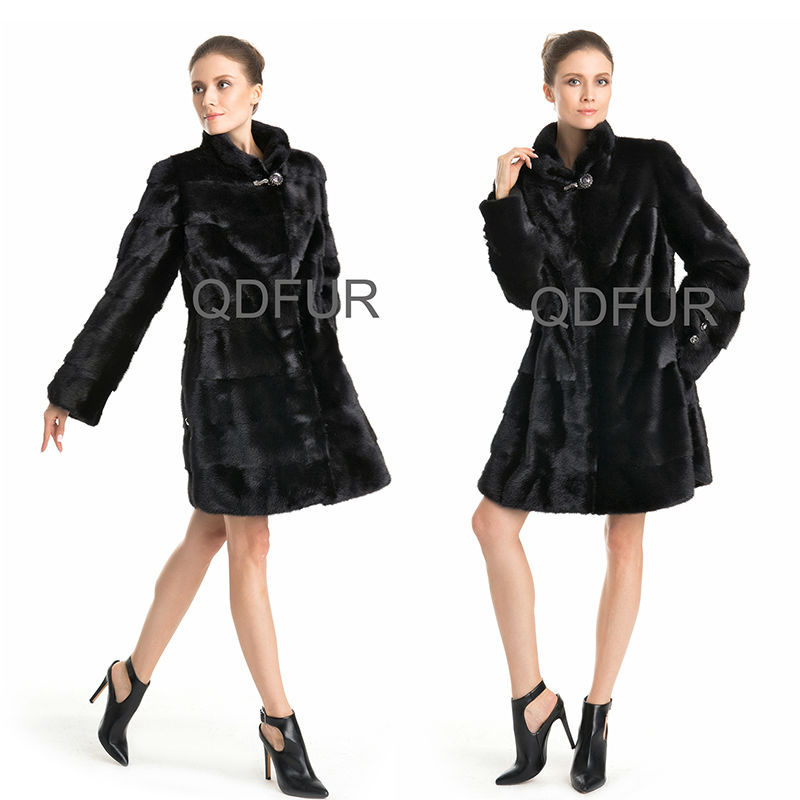 QD70771 Woman Winter Wear Mink Fur Coat Party Tuxedo Fashion Japanese Import Clothing